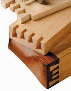 Ah! E se falando em madeira...: Técnica; Fazer rabo de andorinha
