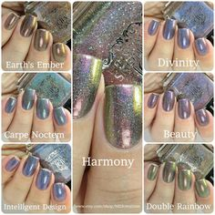 Multi chrome holos 7 piece collection  Discounted Indie Polish by MDJ Creations by MDJCreations on Etsy