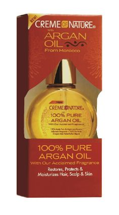 For added protection moisture and shine apply Creme of nature 100% pure Argan oil to your skin or hair or a few drops to your shampoo, conditioner or moisturizer #hairoil #skinoil - uhsupply