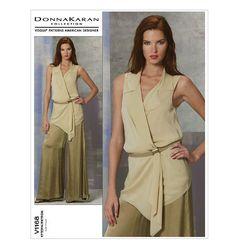 SZ 4/6/8/10 Vogue Pattern V1168 de DONNA KARAN - jeune femme : tunique et pantalon modèle