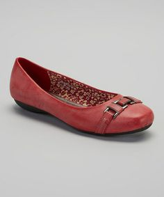 Look what I found on #zulily! Red Clasp Flat by Tory Klein #zulilyfinds