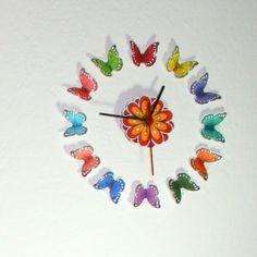 DIY butterfly clock!   Clips-n-Cuts