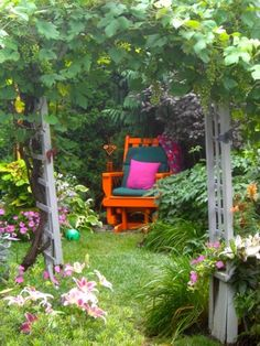 A secluded space in the garden.......