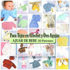 Patrones y tutoriales de tejido crochet y dos agujas gratis para descargar Baby Knitting Patterns, Knitting For Kids, Loom Knitting, Crochet Book Cover, Crochet Books, Knit Crochet, Bebe Baby, Kids Rugs, Mayo 2016