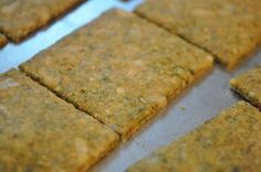 Lavina's Healthy Home: Brown Rice Sunflower Seed Cracker Recipe tj - brown rice flour, coconut oil Sunflower Seed Crackers Recipe, Sunflower Seed Recipes, Sunflower Seeds, Rice Flour Recipes, Baking Recipes, Whole Food Recipes, Snack Recipes, Gluten Free Rice, Gluten Free Baking