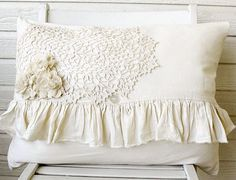 Large Feather Ruffle Pillow, 17x24, 48.00 + Ship - From http://www.etsy.com - SOLD (01.21.13)