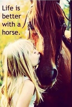 Life is better with a horse or horses I should say :)