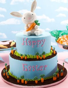 Easter Bunny and Carrots cake.