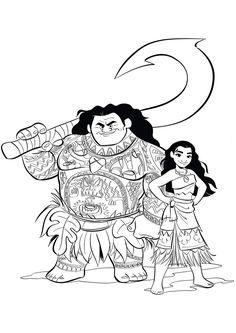 Moana coloring pages. Six high resolution free printable Moana coloring pages & activity sheets for kids of all ages! Cartoon Coloring Pages, Disney Coloring Pages, Free Printable Coloring Pages, Free Coloring Pages, Coloring For Kids, Coloring Books, Moana Disney, Moana Coloring Sheets, Moana Y Maui