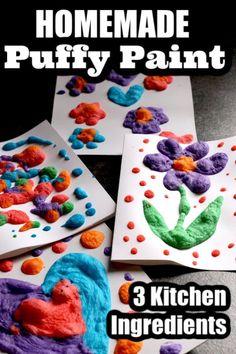 3-Ingredient Puffy Paint Recipe