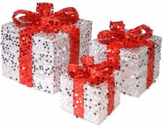 Sparkling Silver Sequin Gift Box Assortment Christmas Home Decor (Set of 3) #ChristmasGiftBox #Sparkling #Silver #Sequin #Gift #Box #Assortment #Christmas #ChristmasDecor #Holiday #Seasonal #HomeDecor #HolidayDecor #SetOf3