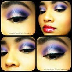 Pretty makeup look using a simple eye shadow quad great for prom Eyeshadow Brushes, Makeup Brushes, Eye Makeup, Prom Makeup Looks, Pretty Makeup Looks, Simple Eyeshadow, Purple Smokey Eye, Purple Makeup, Blush Brush