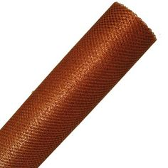 "Metallic Poly Mesh Ribbon Roll 20"" in width; 6 yards length Color: Copper Synthetic Material - open weave, diamond pattern"
