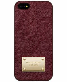 MICHAEL Michael Kors iPhone 5 Case, Saffiano Leather - Tech Cases & Accessories - Handbags & Accessories - Macy's