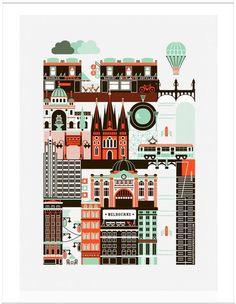 Super Places Melbourne Poster