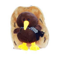 This cute NZ Kiwi Bird Kids Backpack is soft and plush, with plenty of room inside for small books, pencils, etc. The caramel brown backpack has a plush. Brown Backpacks, Kids Backpacks, Kiwi Bird, Kiwiana, Caramel Brown, Childrens Books, Plush, Teddy Bear, Shoulder Straps