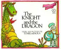 Read The Knight and the Dragon children book by Tomie dePaola . What happens when a sheepish knight and a not-so-fierce dragon fight for the very first time? Well, it's no ordinary ba Knight Dragon, Dragon Fight, Dragons, Pop Up, Wordless Book, Science Fiction, My Books, Books To Read, Chapter Books
