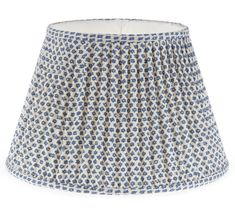 Charming patterned fabric lamp shades from carolina irving penny gathered empire lampshade in blue marden 019 aloadofball Choice Image