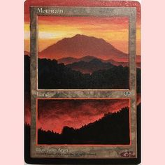 Floating Frame Mountain Extension. Available on eBay. Click the link in my bio for current auctions. #magic #mtg #magicthegathering #magicthegatheringaltered #mtgaltered #mtgalters #magicalters #magicaltered #magicalter #picoftheday #photooftheday #paint #painting #ebay #extendedart #drawing #forsale #nerd #nerdlife #geek #tcg #tabletop #tabletopgaming #acrylic #altered #alteredart #art #mountain #mirage #jralteredart