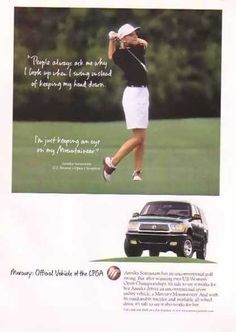 Sorenstam, Annika – Mercury Mountaineer – U. Women's Open Champion Mercury Mountaineer, Old Ads, 1990s, Champion, Advertising, Cars, Sports, Vintage, Women