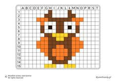 Quilt Patterns, Knitting Patterns, Little Cotton Rabbits, Graph Paper, Paper Piecing, Pixel Art, Crafts For Kids, Owl, Cross Stitch