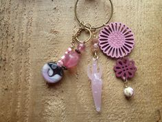 pink love goddess charm necklace by DesisDesignsShop on Etsy