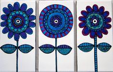 Hand painted tiles by Jocelyn Proust. http://www.jocelynproustdesigns.com.au
