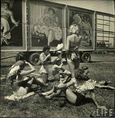 Circus Girls in Sarasota, Florida, ca. 1949
