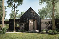 C-130 - Évolution Architecture Evolution Architecture, Architecture Artists, Residential Architecture, Contemporary Architecture, Architecture Design, C 130, Modern Barn, Modern Farmhouse, Gable House
