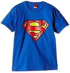 DC COMICS Superman Logo - Camiseta Niños, color azul, talla 7-8 años (128/130 cm) #camiseta #friki #moda #regalo
