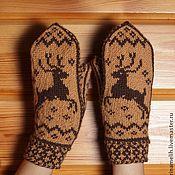 Варежки Socks, Knitting, Hats, Gloves, Tricot, Hat, Breien, Sock, Stricken