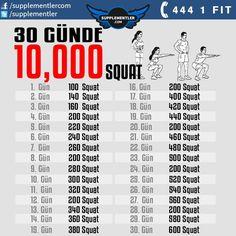 Sürekli Squat'ın faydalarından bahsediyoruz. Haydi bakalım 1 ay gibi bir sürenin sonunda 1 günde 600 Squat yapabilecek misiniz? Squat Workout, Workout Challenge, Body Weight, Weight Loss, Bodybuilding Workouts, Photography Tutorials, Build Muscle, Hiit, Squats