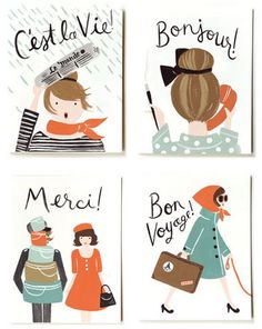 paris, france, french, city of lights, french girls, bonjour, merci, stationery, rifle paper co.,