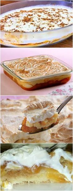 SOBREMESA DELICIOSA CREMOSA DE BANANA , HMMM !! VEJA AQUI >>>Em uma panela dissolva o amido de milho em um pouco de leite e em seguida acrescente o restante do leite. #receita#bolo#torta#doce#sobremesa#aniversario#pudim#mousse#pave#Cheesecake#chocolate#confeitaria Banana, Camembert Cheese, Food And Drink, Mousse, Cheesecake, Cooking, Ethnic Recipes, Chocolate, Desert Recipes