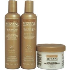 Mizani True Textures Curl Balance Shampoo 8.5oz + Cleansing Cream 8.5oz + Moisture Stretch 8.5oz by MIZANI. $26.75. Mizani True Textures Curl Balance Shampoo 8.5oz. Mizani True Textures Cleansing Cream 8.5oz. Mizani True Textures Moisture Stretch 8.5oz. Mizani True Textures Moisture Stretch Curl Extending Cream Designed for coiled to extremely tight styles, this moisturizing, curl-smoothing cream helps to loosen and elongate tight, unruly coils without weight or ...