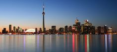 Portraits of Cities at Night Stunning Pics) - Part Toronto, Canada. Toronto Skyline, Night City, Beautiful Places In The World, Out Of This World, Around The Worlds, America, Toronto Canada, Landscape, Country