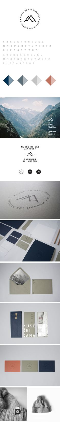 Musée du ski Canadien / Canadian Ski Museum on Branding Served Web Design, Design Logo, Brand Identity Design, Graphic Design Typography, Layout Design, Design Girl, Brand Design, Corporate Design, Editorial Design