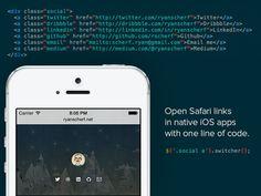 Switcher – Convert Regular Links to Native iOS app URL schemes