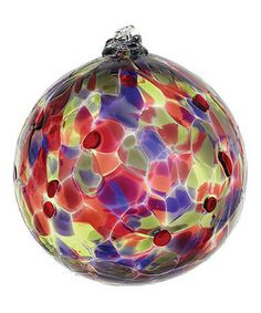 Another great find on #zulily! Wild Plum 6'' Calico Ball Ornament #zulilyfinds