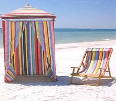 Beach Stripes...like this tent even for the backyard.