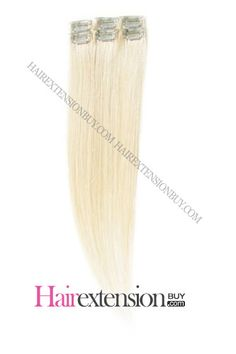 Light Blonde Straight Clip In Highlight Highlighted Hair Extensions, 100 Human Hair Extensions, Light Blonde, Love Hair, Hair Highlights, Makeup, Highlight Hair, Beauty, Sew In Hairstyles