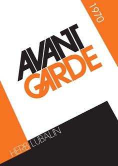 avant garde typography   Avant Garde Font Packaging on Behance