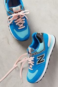 New Balance WL 574 Sneakers Blue Motif Sneakers #anthrofave