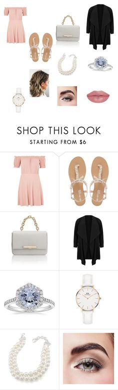"""Girls night out"" by larisa-miriklis ❤ liked on Polyvore featuring Topshop, Head Over Heels by Dune, Amanda Wakeley, Daniel Wellington, Carolee and Avon"
