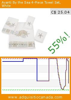 Avanti By the Sea 4-Piece Towel Set, White (Kitchen). Drop 55%! Current price C$ 25.04, the previous price was C$ 55.13. http://www.adquisitiocanada.com/avanti/sea-4-piece-towel-set