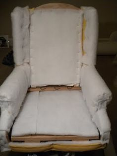 How to reupholster wing back chair