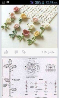 KUFER z artystycznym rękodziełem : Kwiaty szydełkiem - wzory - Salvabrani