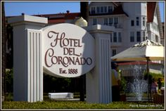 "Hotel del Coronado, located on the beautiful island of Coronado, CA.  Established in 1888, during the Victorian Era, generations of families have celebrated weddings, family reunions, anniversaries, proms and ""just because"" getaways at this beautiful resort."