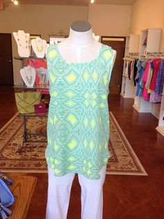 Fun colors on this summer top from Gigi's Boutique!