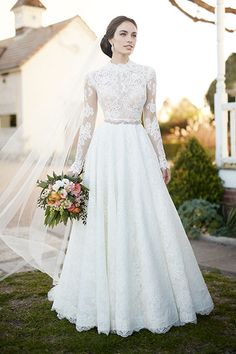 Wedding gown by Martina Liana.